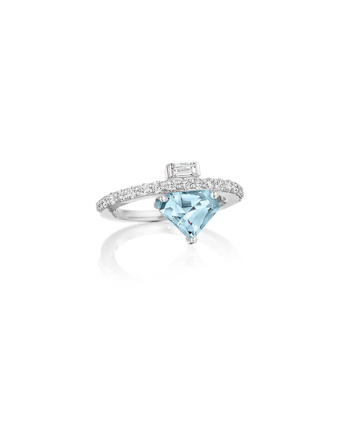 Aquamarine ring and white gold - Lesley Ann Jewels