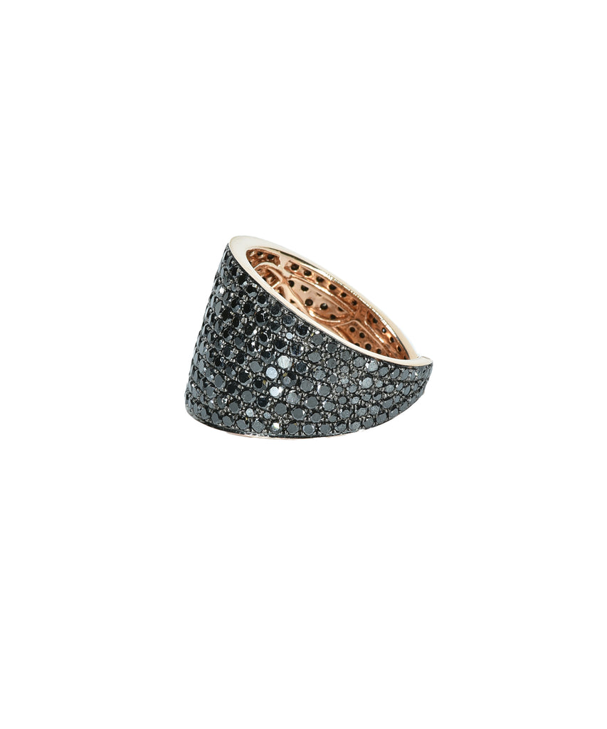 Black diamond wrap ring
