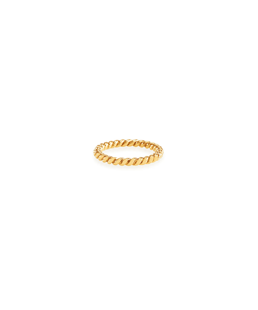Rose Gold Twisted Band - Lesley Ann Jewels