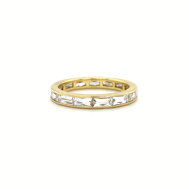Baguette Diamond Band - Lesley Ann Jewels