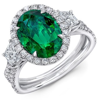 Oval Center Emerald Ring - Lesley Ann Jewels