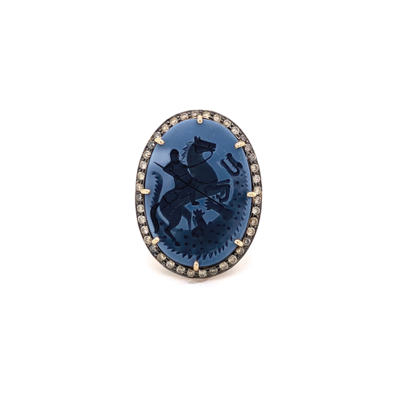 Saint George Cameo Ring - Lesley Ann Jewels