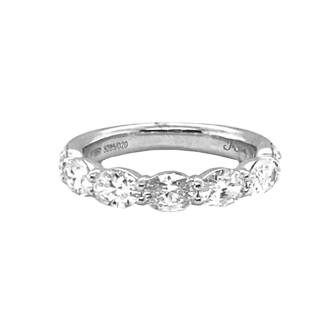 Oval Shared Prong Ring - Lesley Ann Jewels