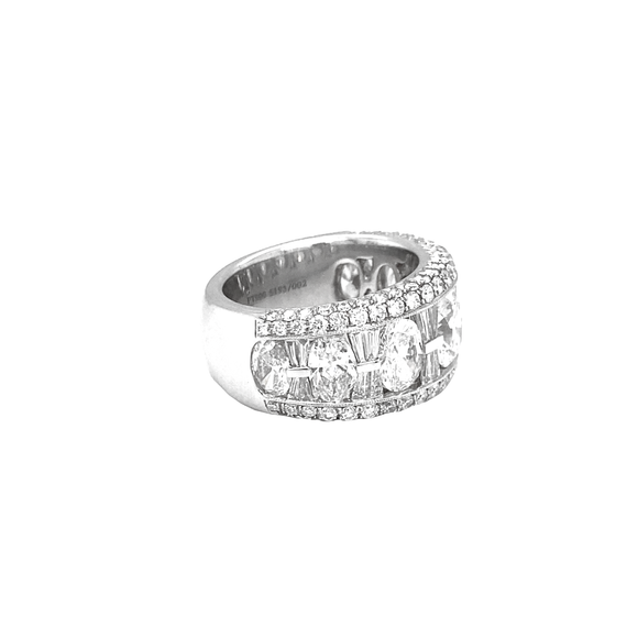 Pave Channel Wide Band - Lesley Ann Jewels