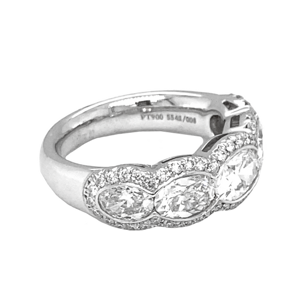 Pave Bezel Ring - Lesley Ann Jewels