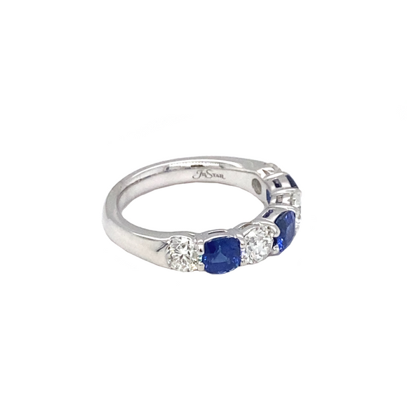 Cushion Blue Sapphire Band - Lesley Ann Jewels