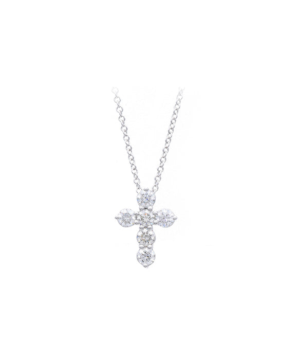 Diamond Cross Pendant - Lesley Ann Jewels