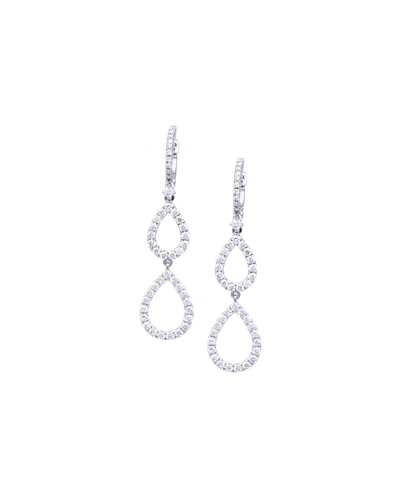 Double-Pear Drop Earrings - Lesley Ann Jewels