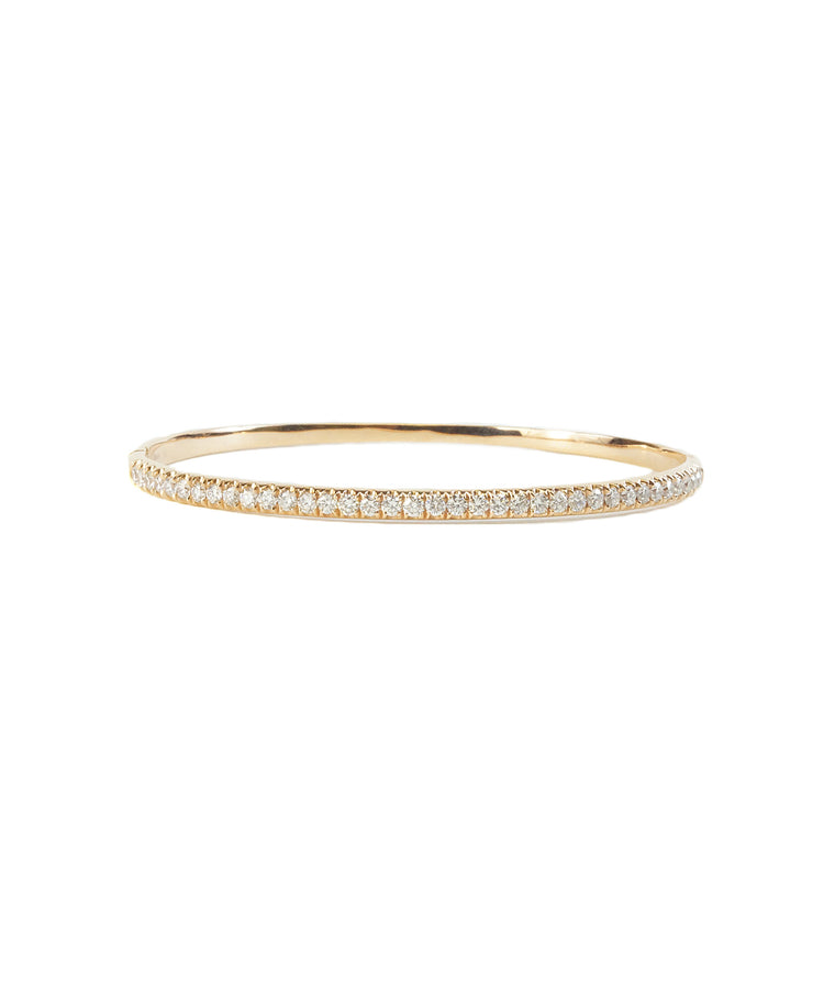 Hinged diamond bangle in rose gold