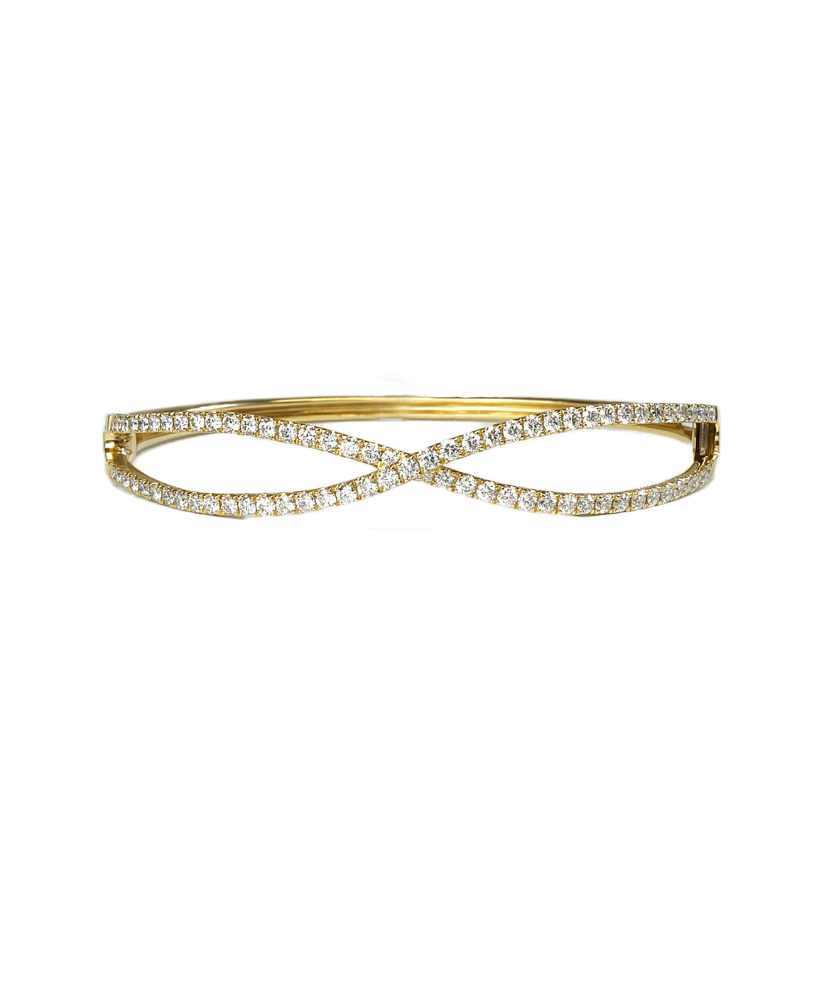Infinity bangle with diamonds
