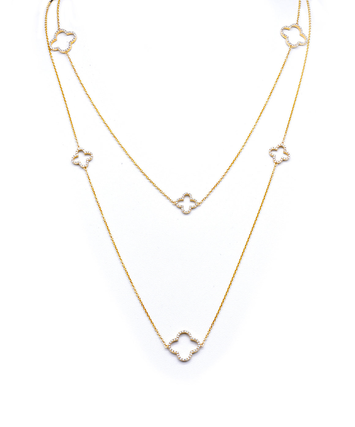 Clover chain in yellow gold