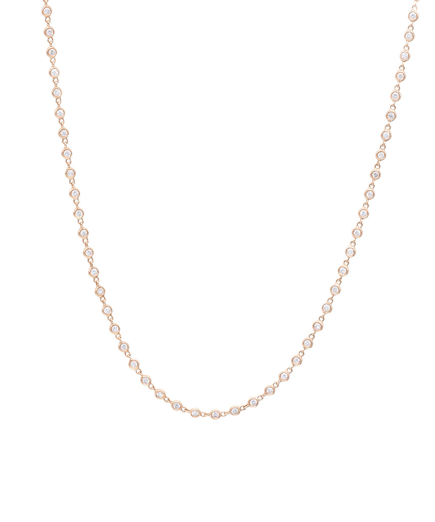 Bezel-Set Diamond Necklace - Lesley Ann Jewels