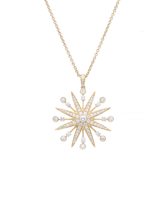 Diamond Starburst Pendant - Lesley Ann Jewels