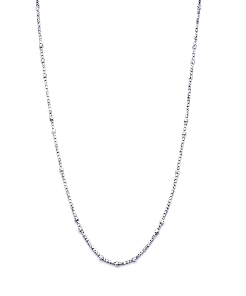 Long white gold diamond necklace - Lesley Ann Jewels