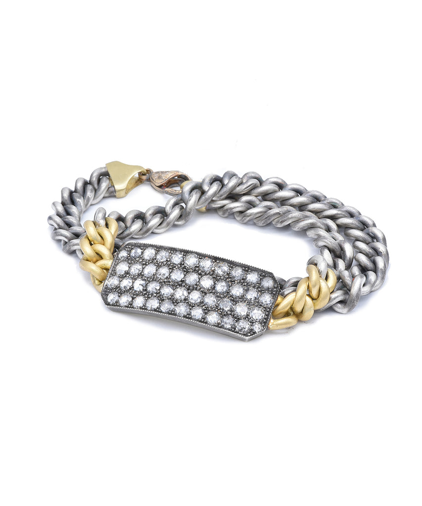Grey diamond Ten Table bracelet - Lesley Ann Jewels
