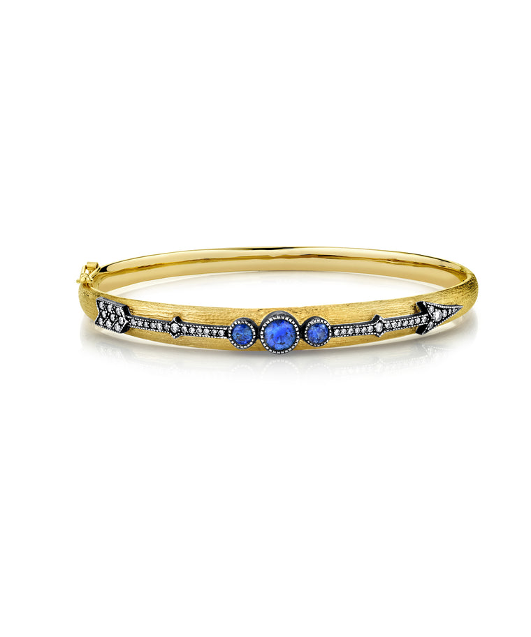 Arrow bracelet with sapphires - Lesley Ann Jewels