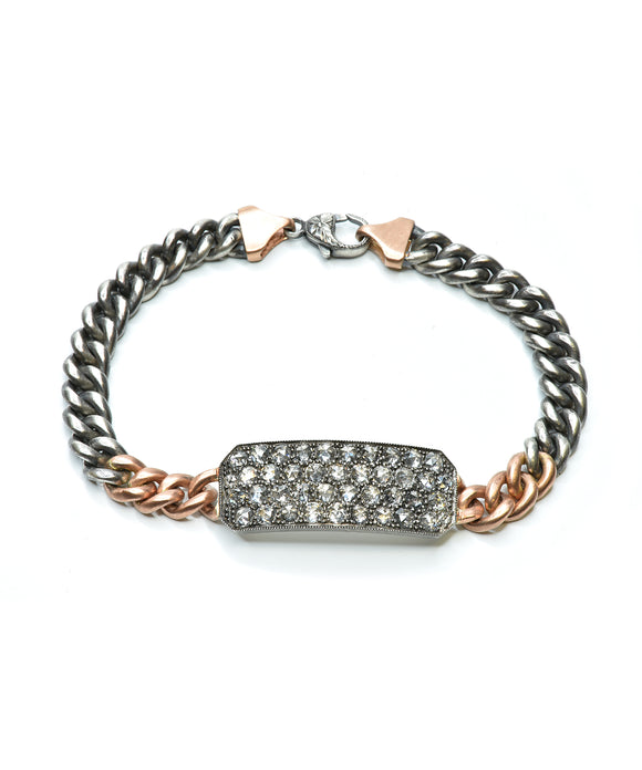 "Gray diamond ""Ten Table"" bracelet"