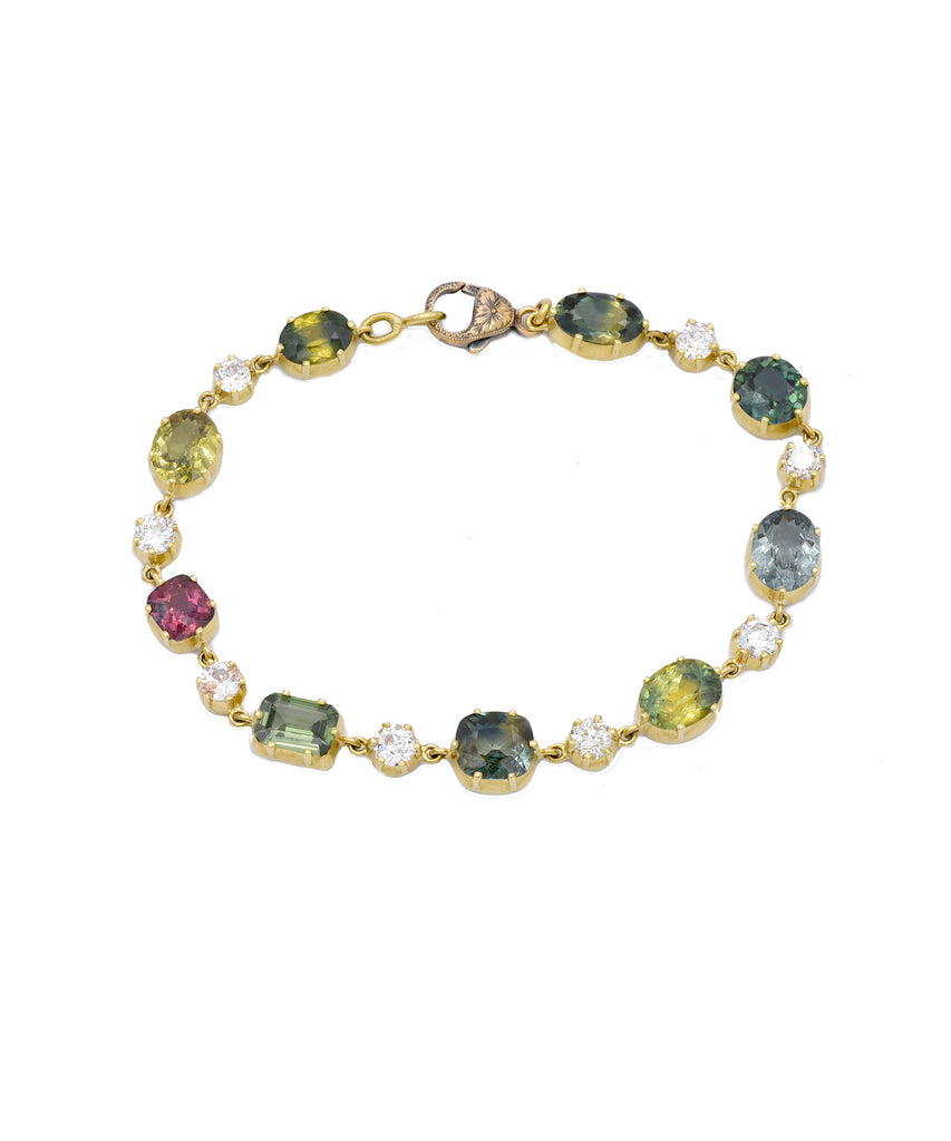 Multi Colored Sapphire Bracelet - Lesley Ann Jewels