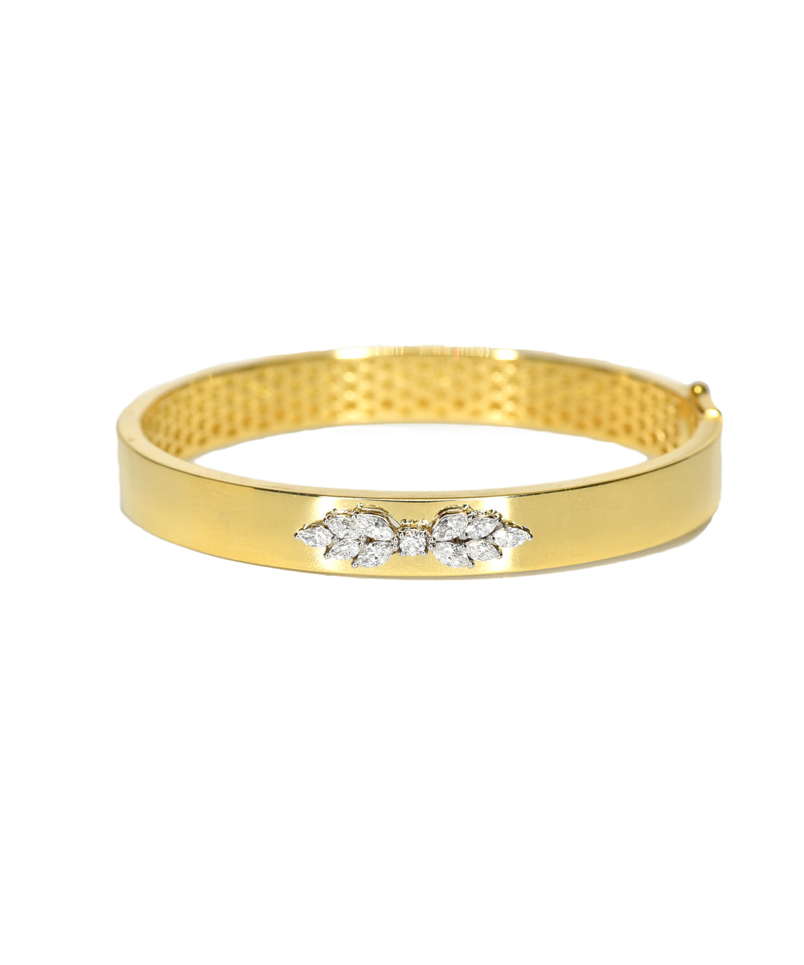 Bangle with marquis diamonds