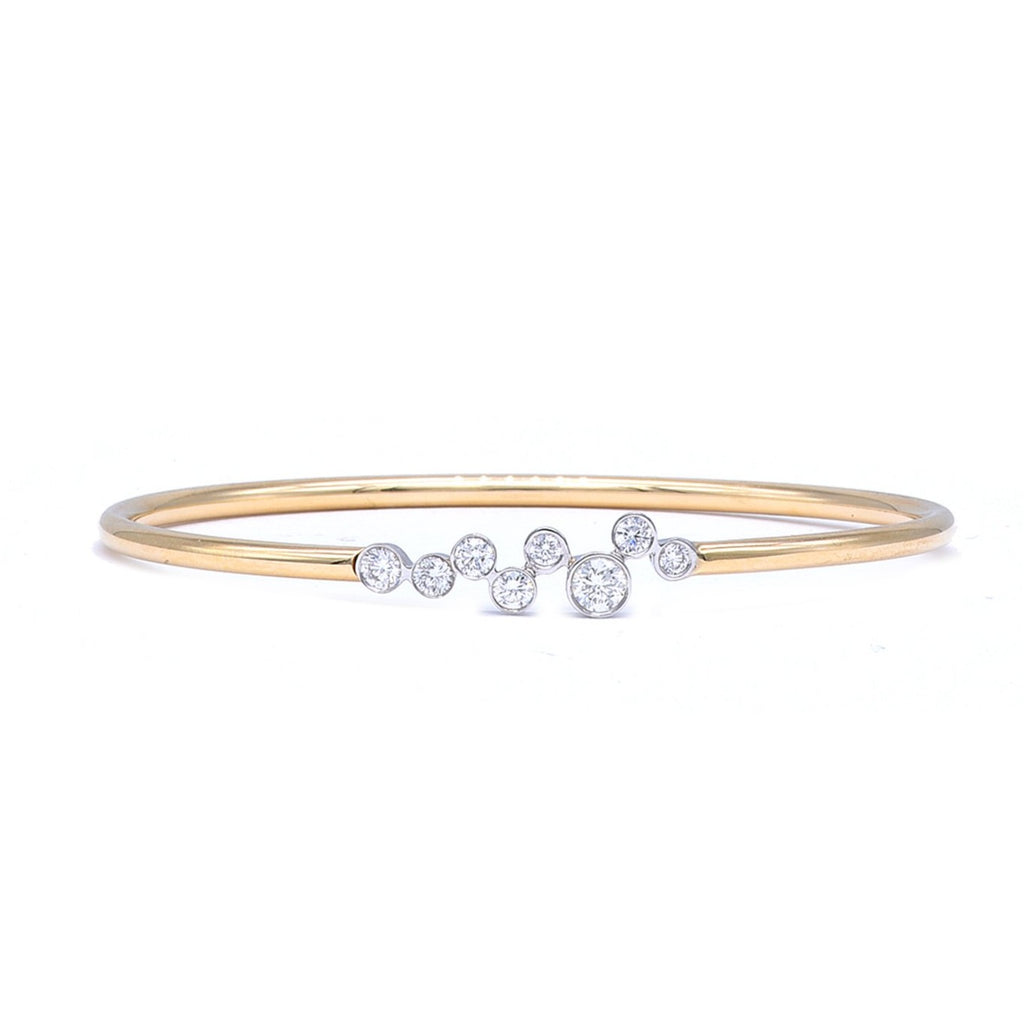 Flexible diamond bangle bracelet - Lesley Ann Jewels