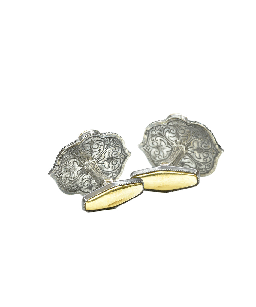 Grey moonstone cufflinks