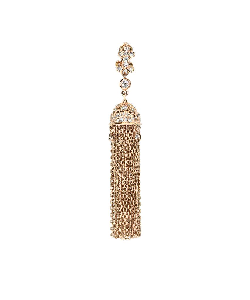 Rose gold tassel pendant