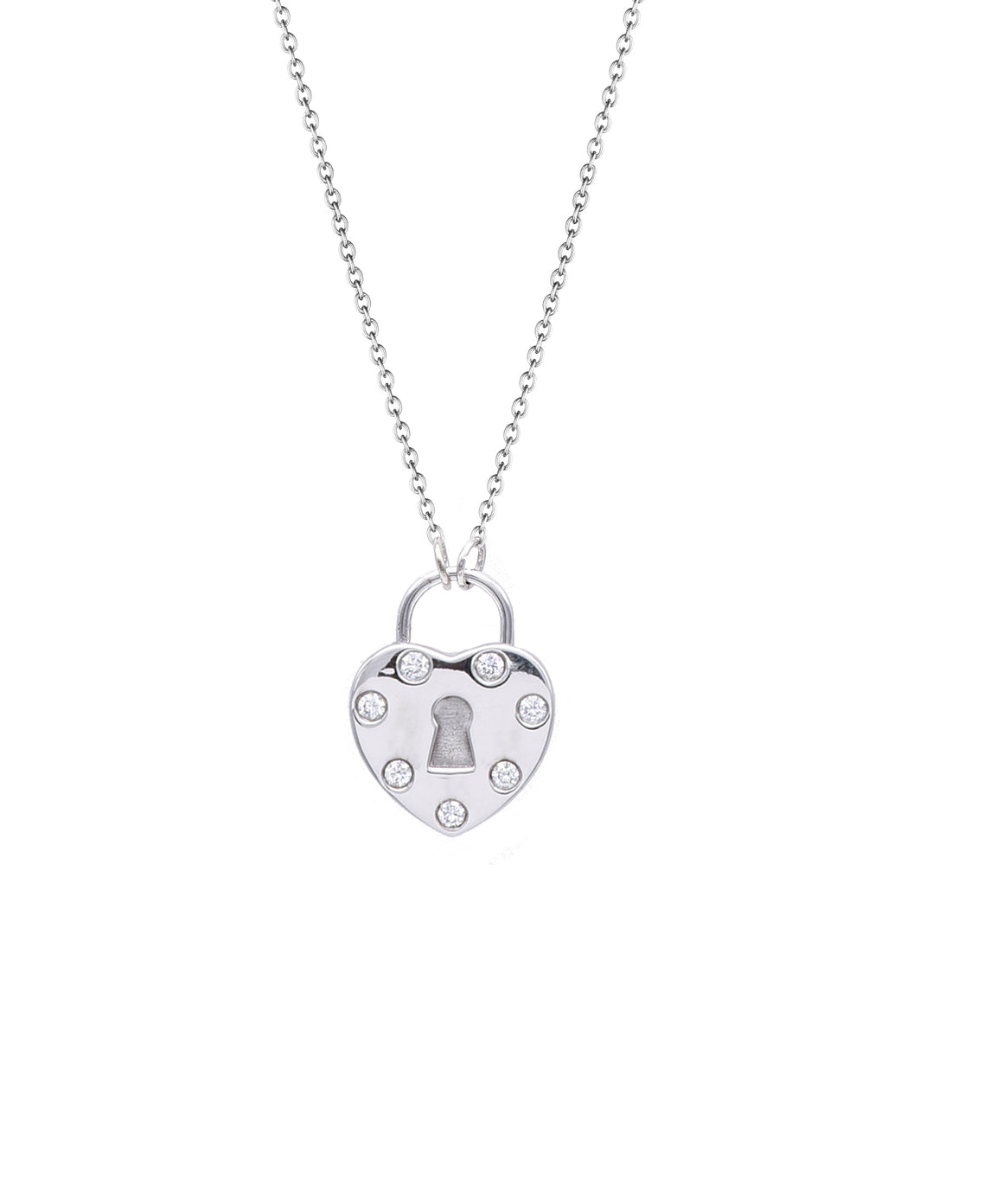 Polished Love Lock Heart Pendant