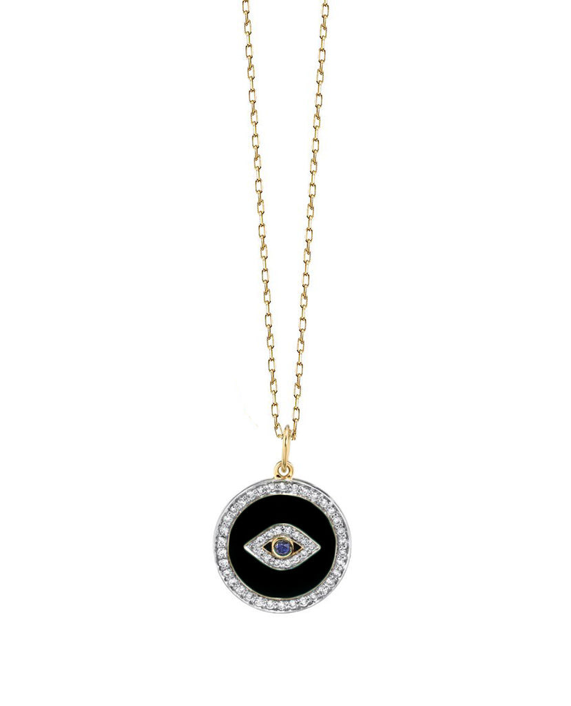 Evil eye pendant with enamel