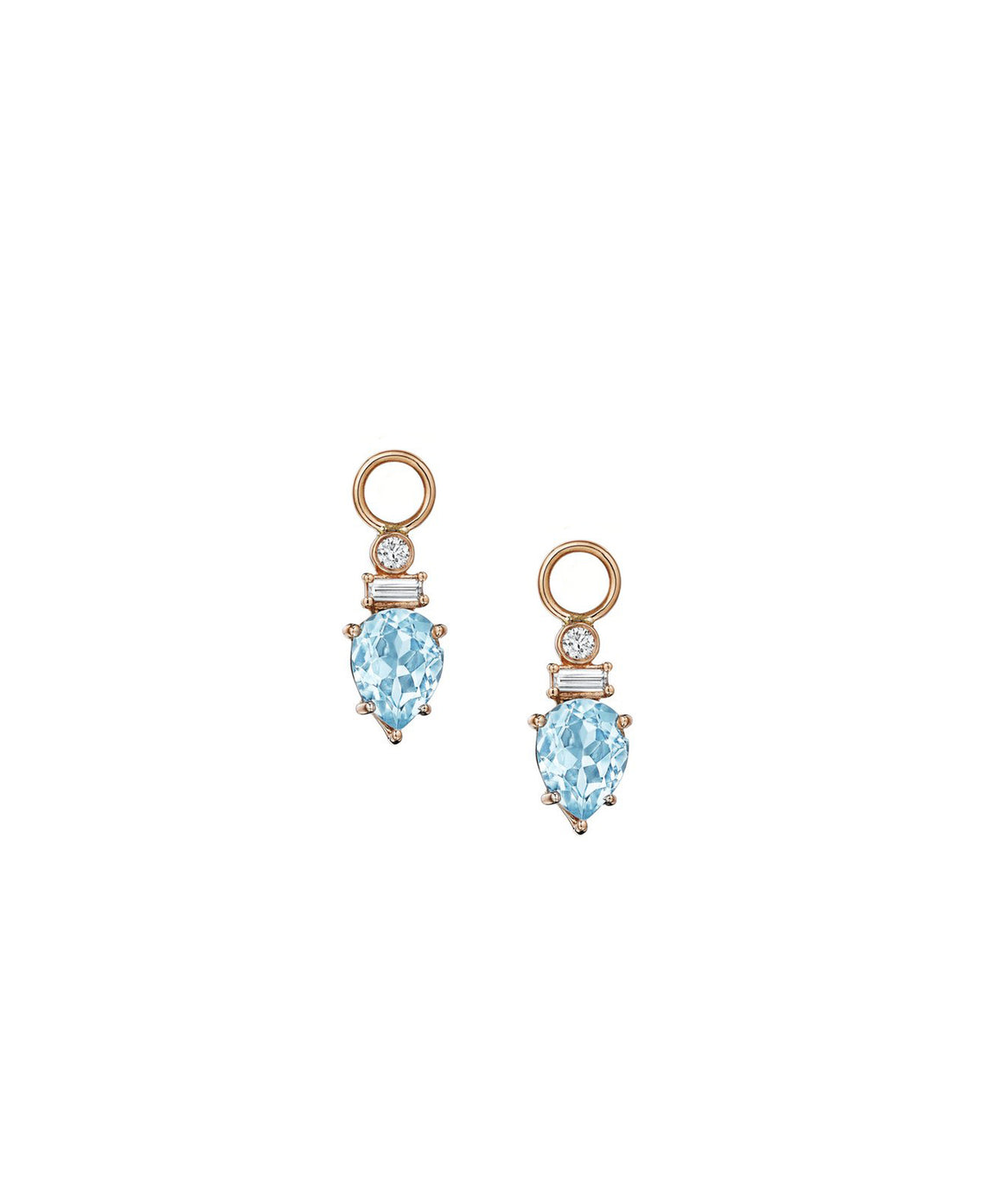 Aquamarine earring charms - Lesley Ann Jewels