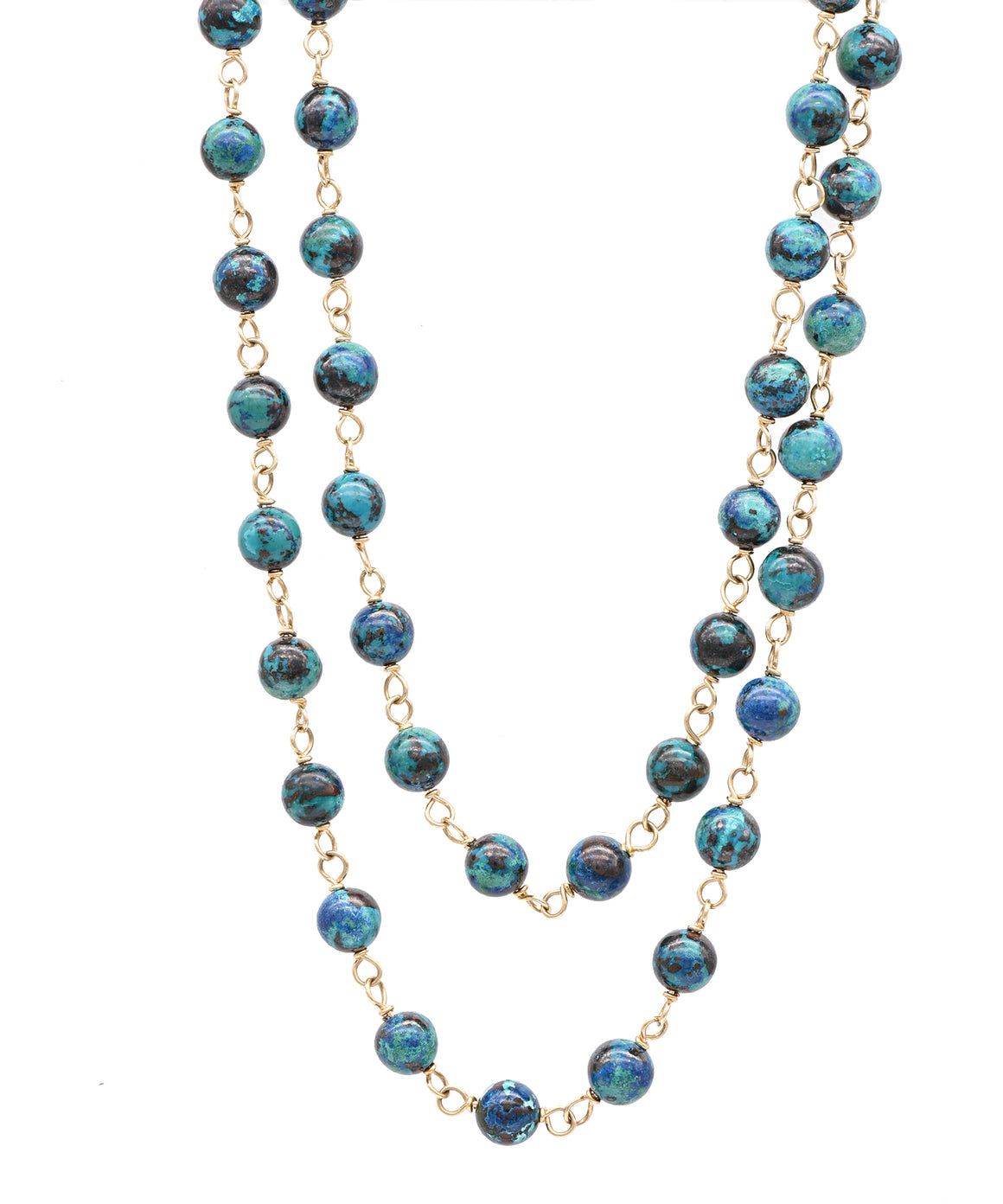 Chrysocolla Bead Necklace - Lesley Ann Jewels