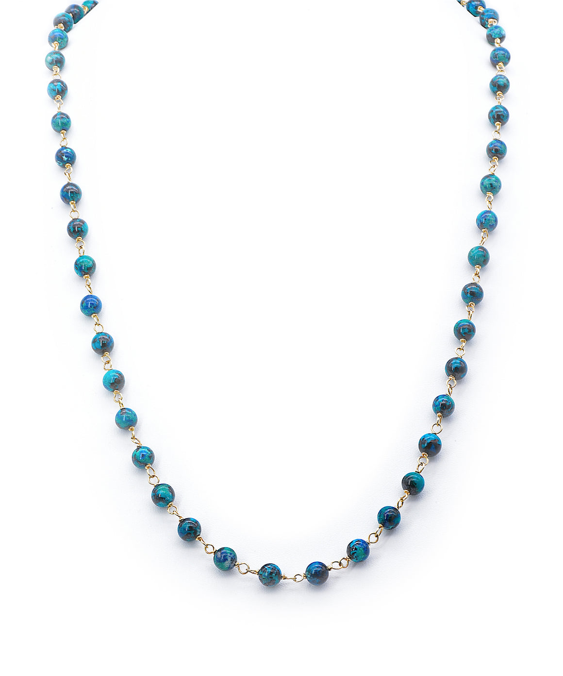 Chrysocolla bead necklace