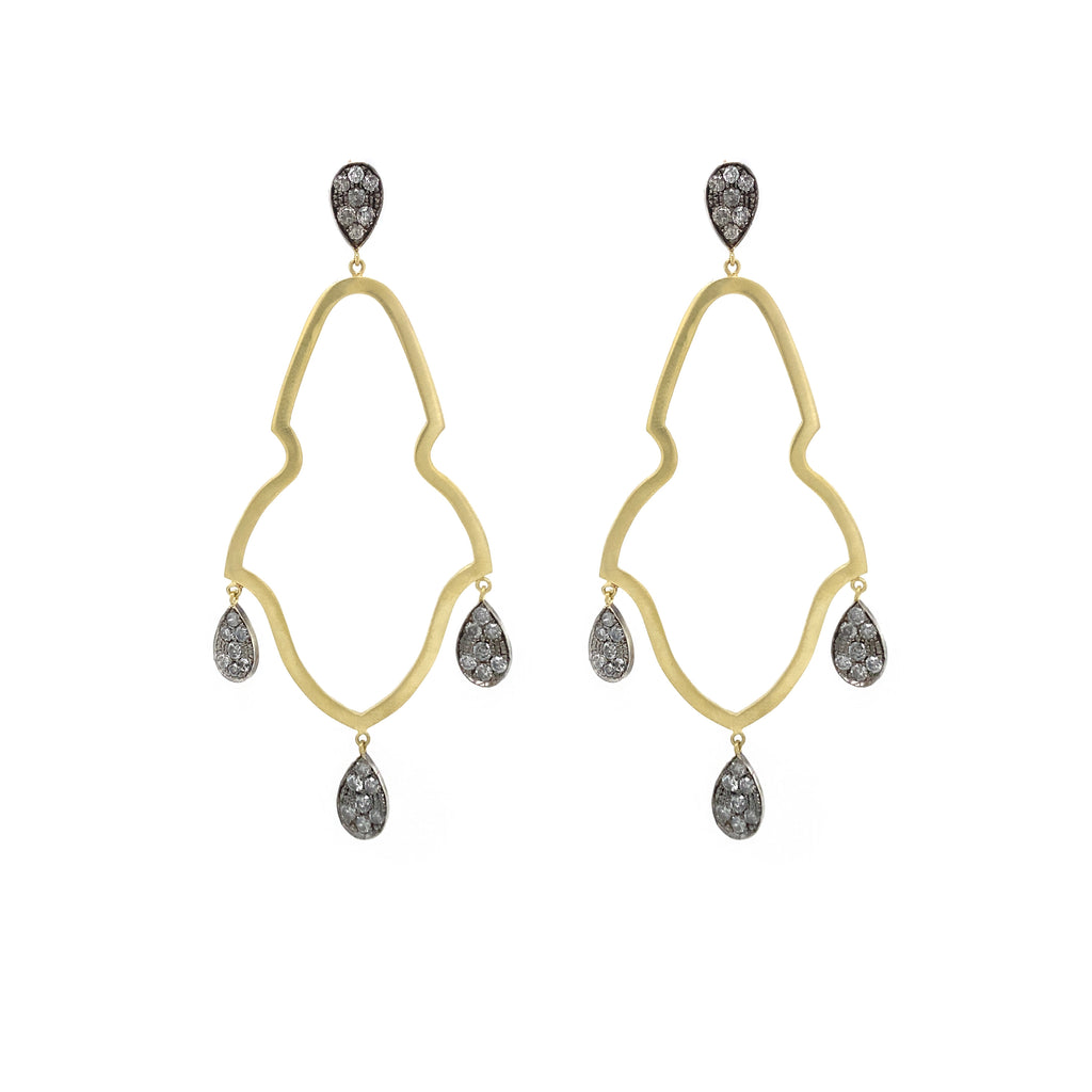 Large Diamond Gypsy Earrings - Lesley Ann Jewels