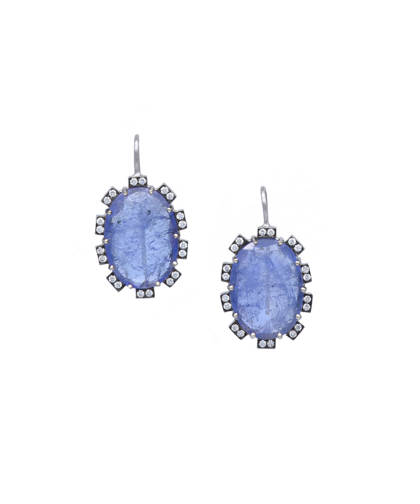 Tanzanite petal earrings