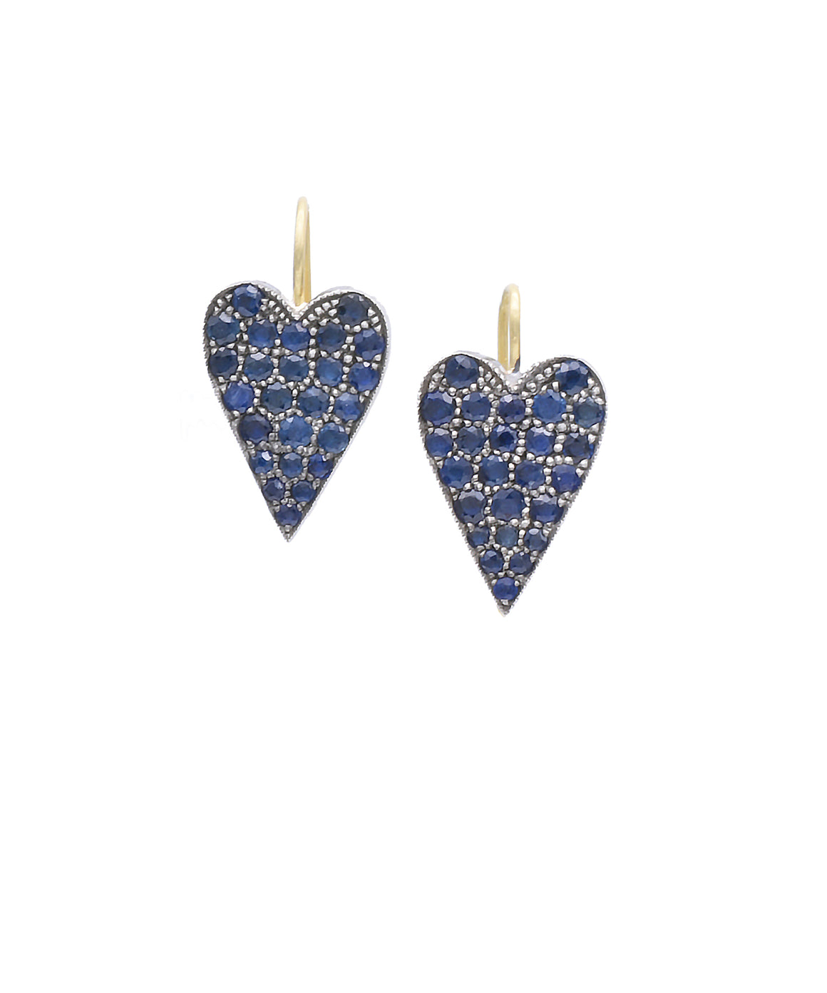 Sapphire Heart Earrings