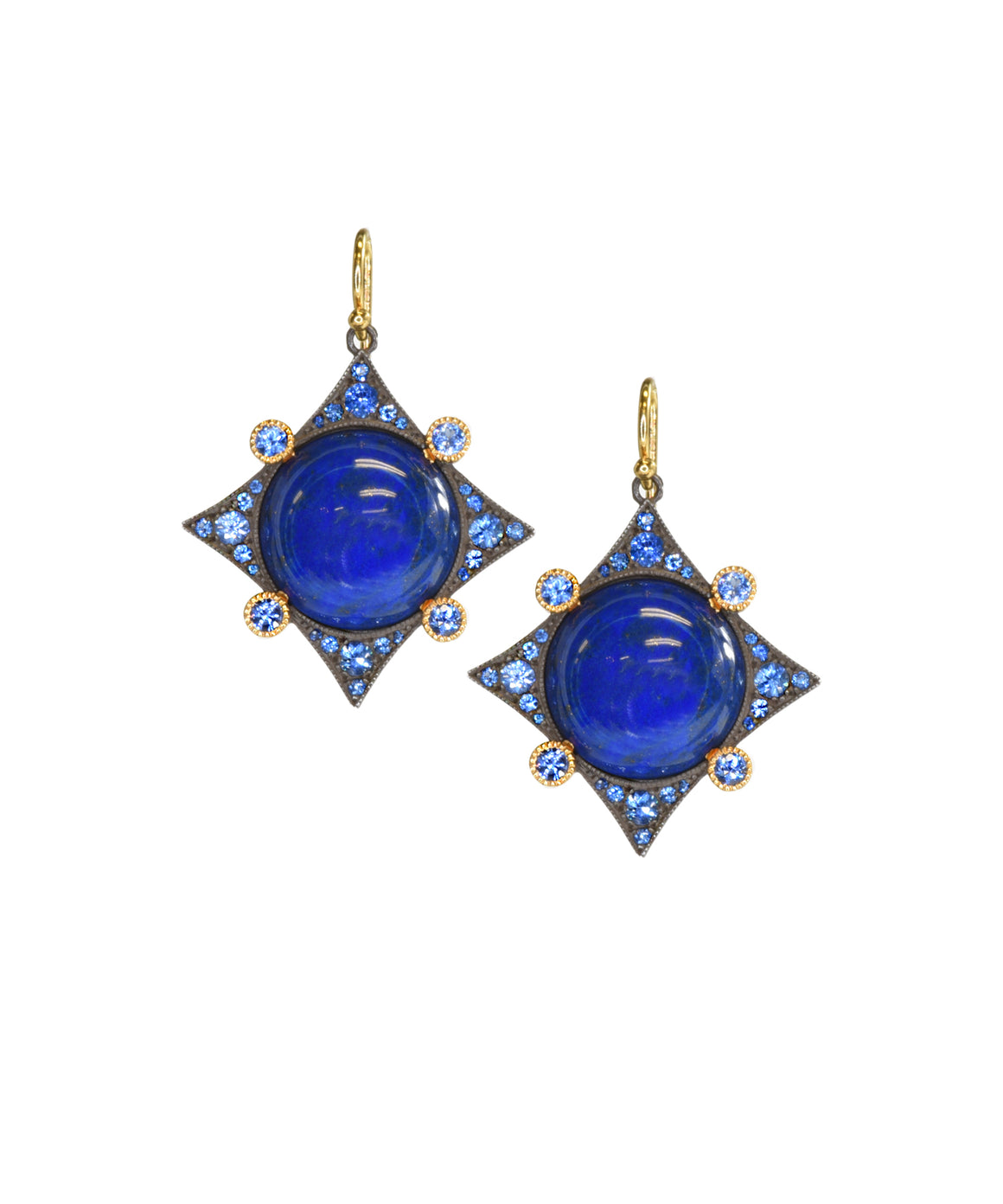 Lapis and sapphire earrings