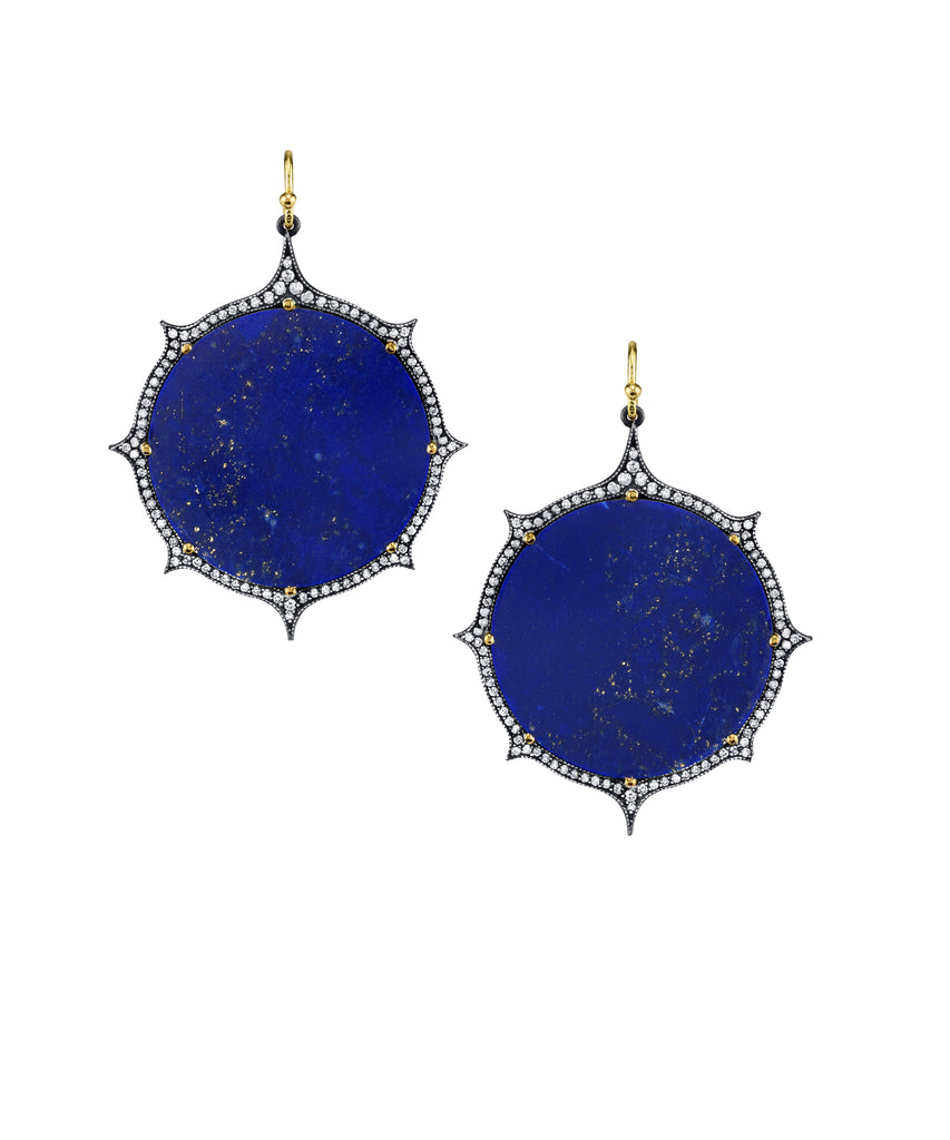 """Starry Night"" lapis earrings"