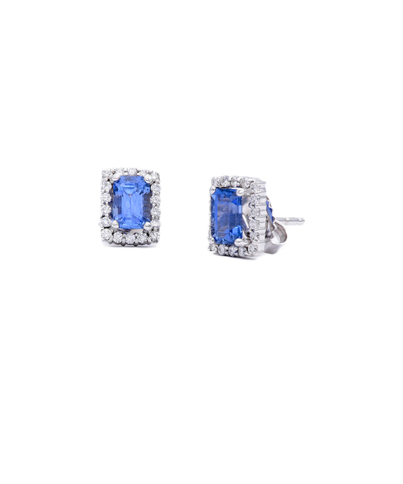 Tiny sapphire stud earrings - Lesley Ann Jewels