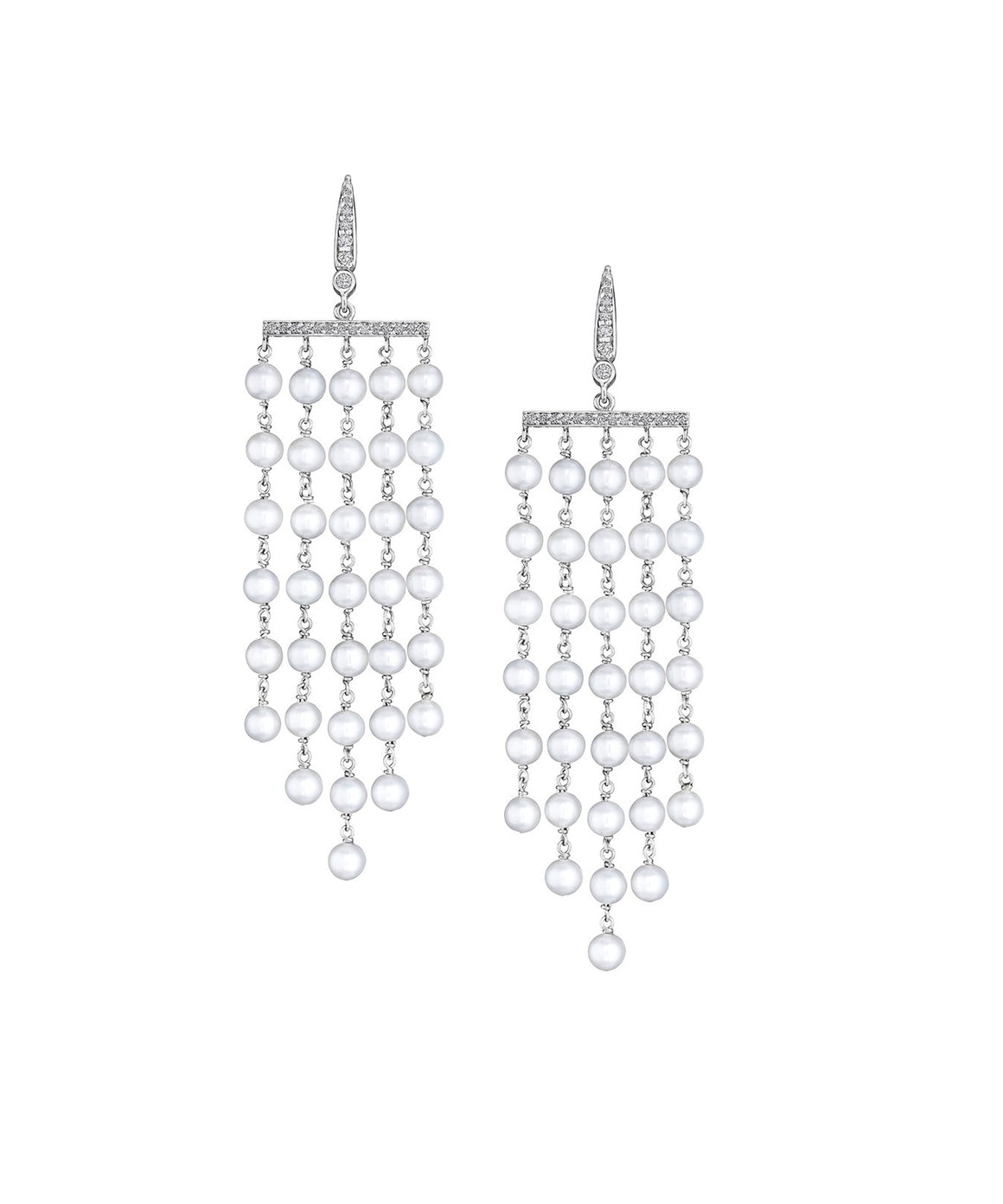 Cascading Waterfall Pearl Earrings - Lesley Ann Jewels