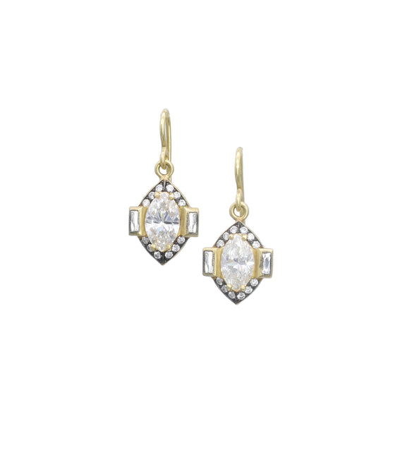 Drop Earrings with Marquise Diamonds