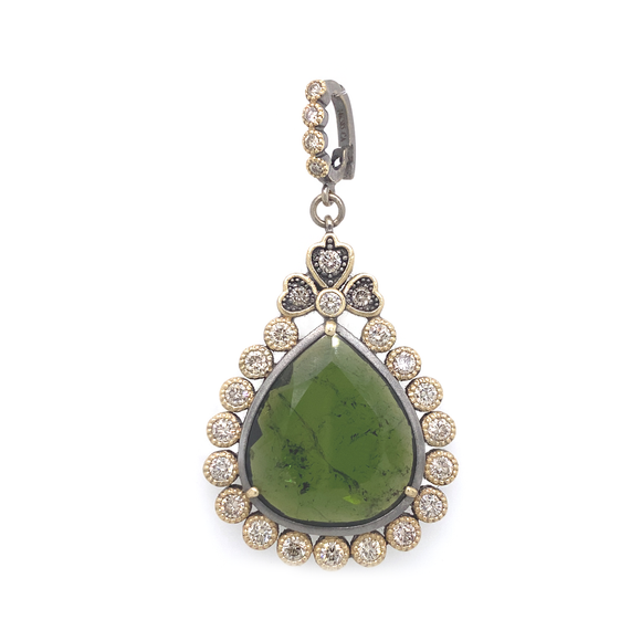 Green Tourmaline Pendant - Lesley Ann Jewels