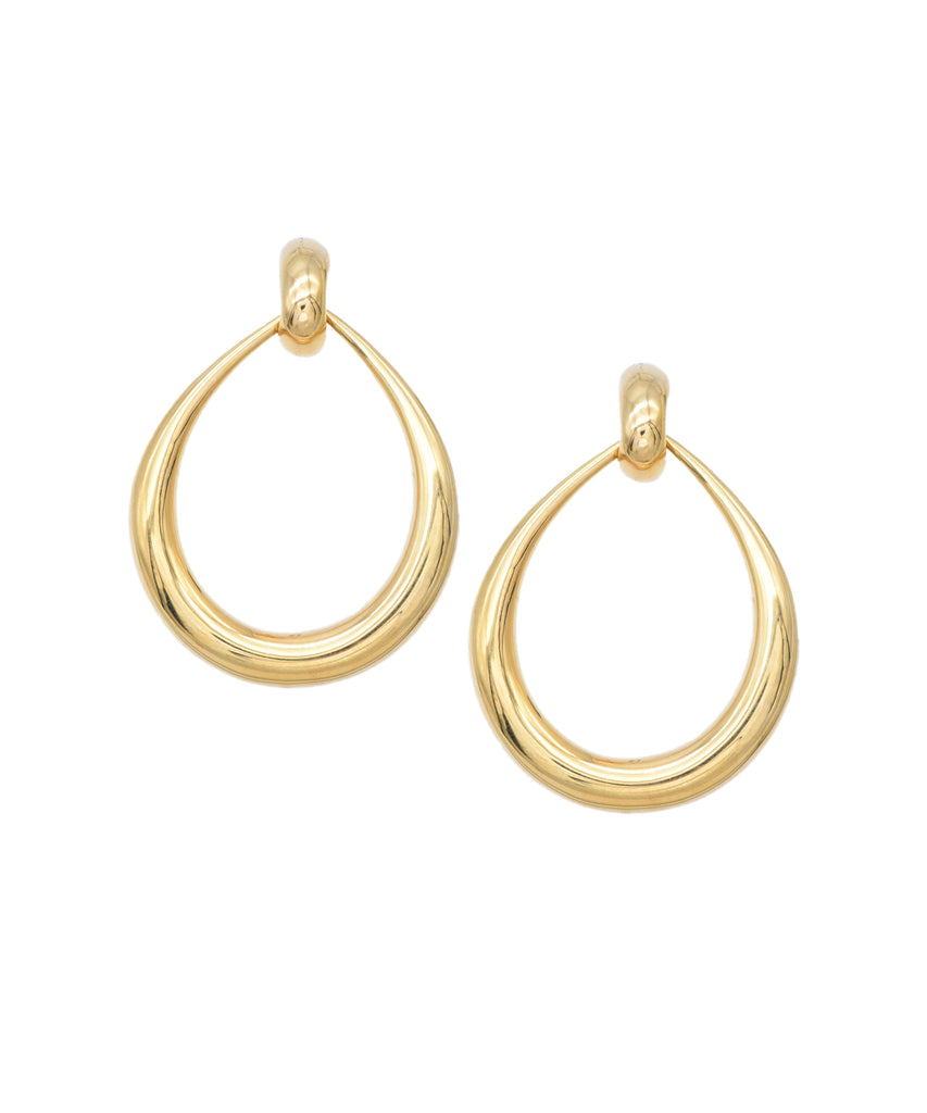 Golden Door Knocker Hoops - Lesley Ann Jewels