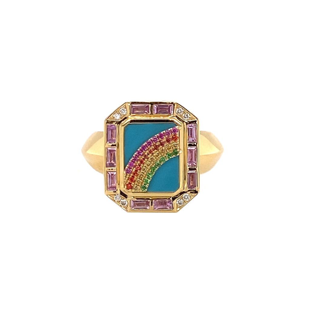 Rainbow Ring - Lesley Ann Jewels