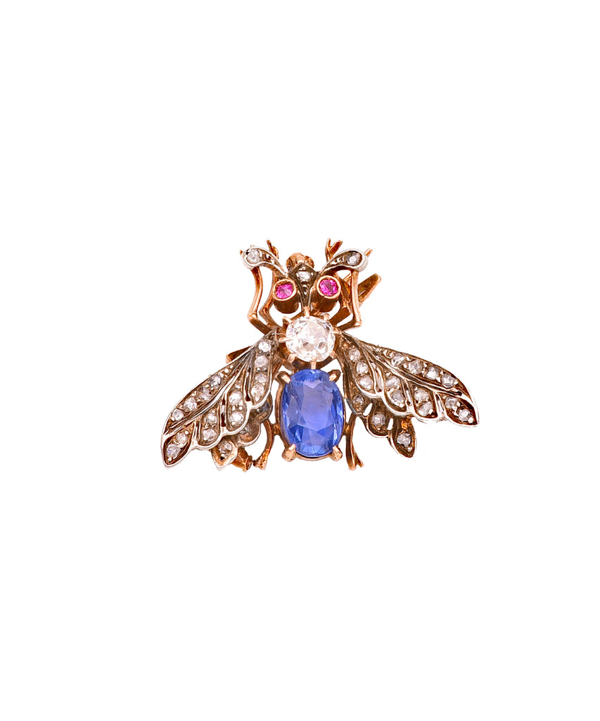 Antique French Moth Pendant - Lesley Ann Jewels