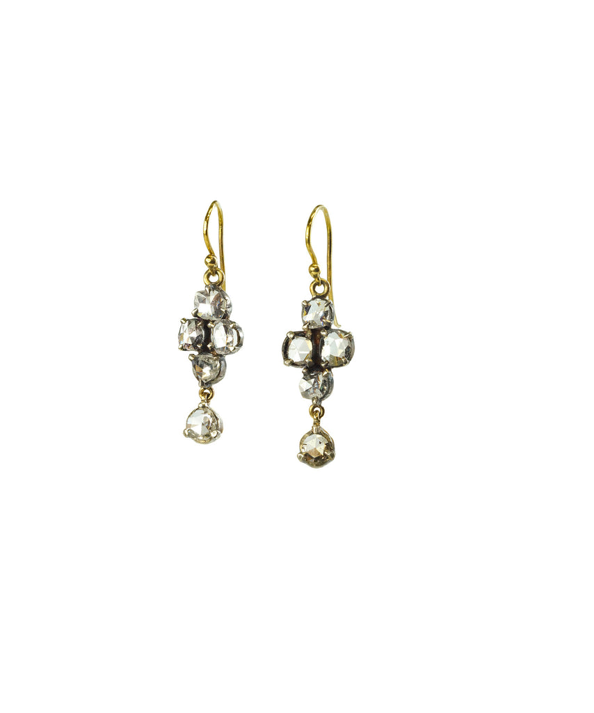 Victorian rose-cut diamond earrings