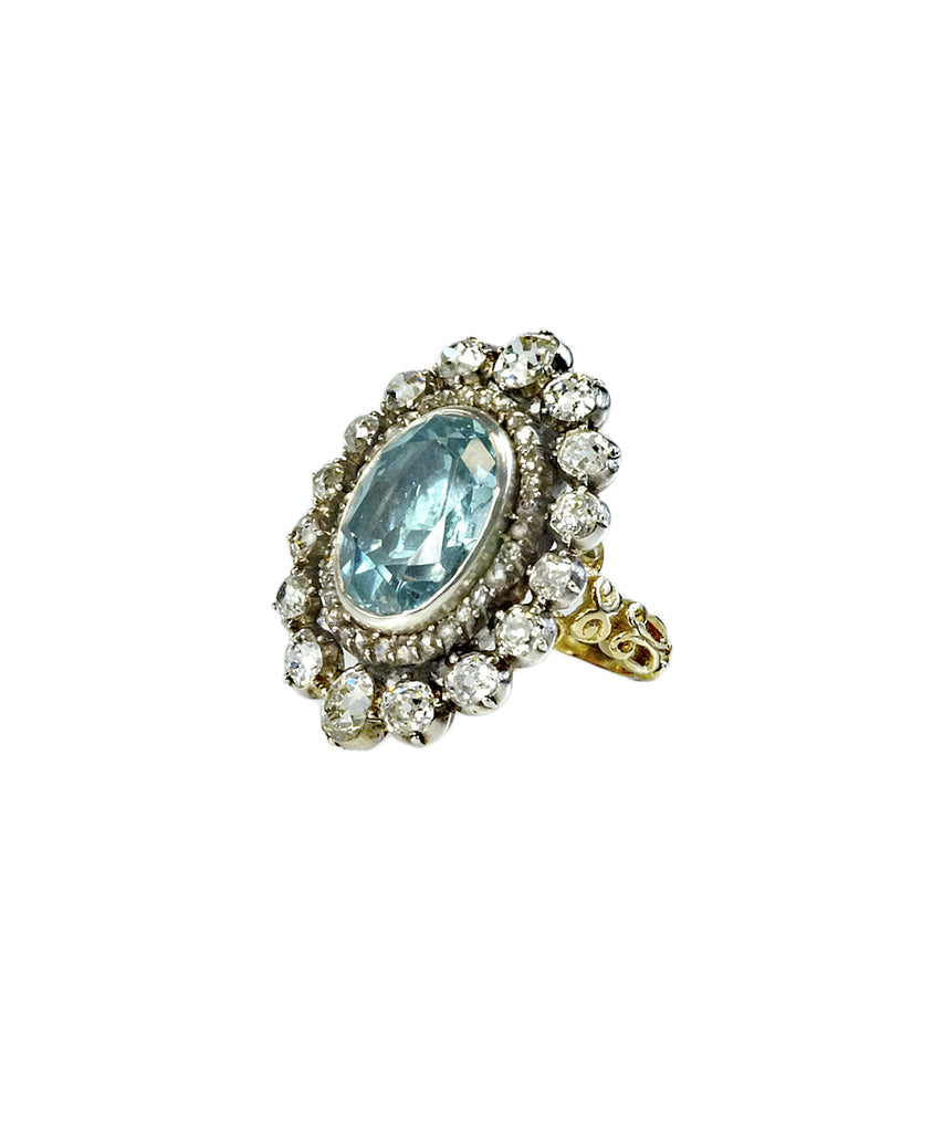 Georgian aquamarine ring