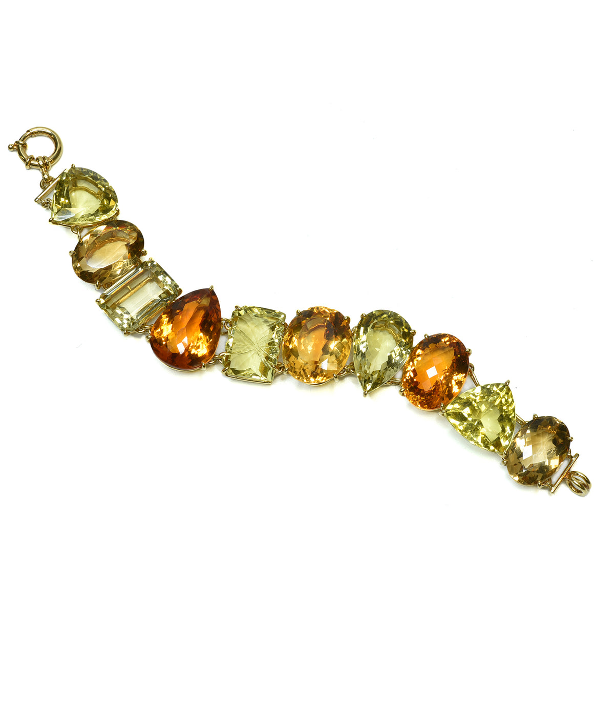 Citrine and lemon quartz bracelet