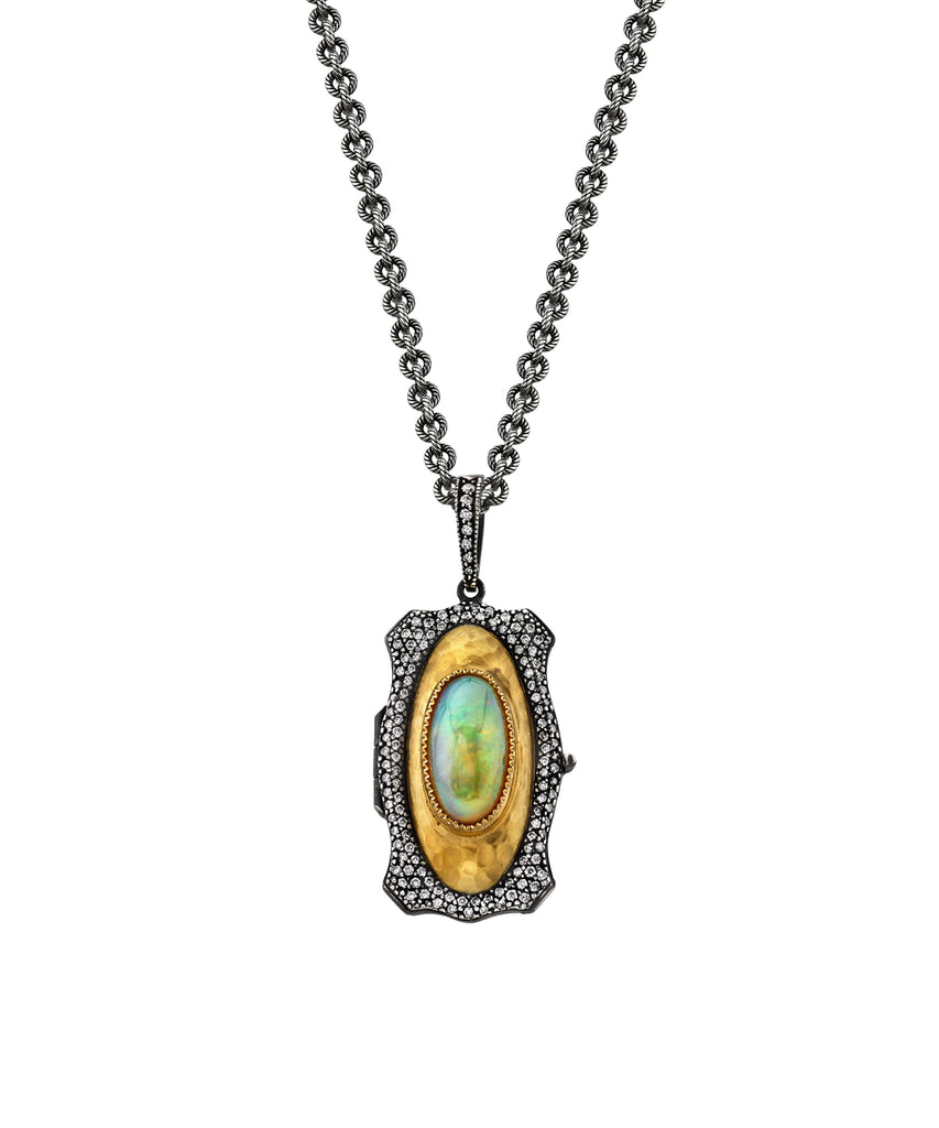 Opal Love locket