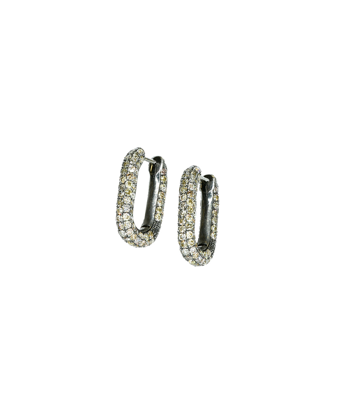 Brown diamond link earrings - Lesley Ann Jewels