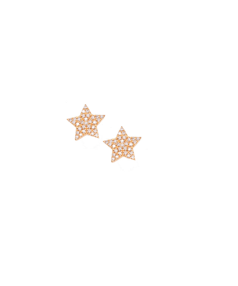 Tiny Diamond Star Studs - Lesley Ann Jewels