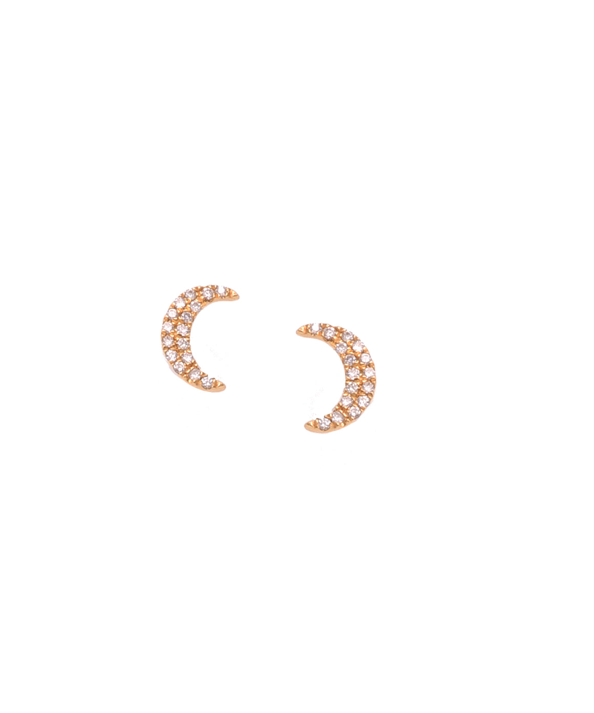 Tiny crescent stud earrings - Lesley Ann Jewels